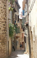 Rovinj back street in Istria