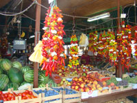 Wonderful fresh fruit and veg in Porec market, Istria
