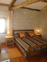 The double bed bedroom in the barn in Kovaci, Istria