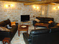 lounge with sofa space for ten in Kovaci, Istria